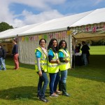 Stewards ready to welcome the Festival Day visitors