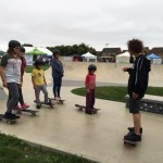 Skate boarding lessons with Skates and Ladders