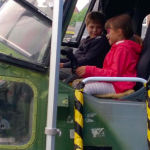 Sitting in the Lynx Helicopter