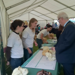 The Mayor of Cambridge with the Welcome Genome Campus