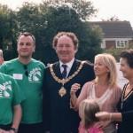 Mayor Robert Dryden with Lisa Maxwell in 2006