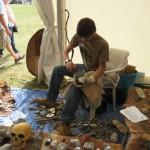 Flint Knapper in the History Society tent 2009