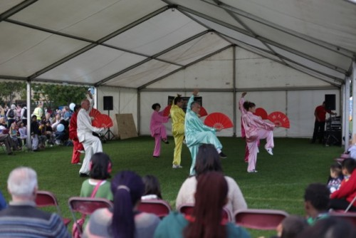 Chinese Community Centre fan dance