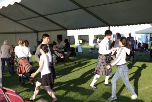 Ceilidh for all - a lovely way to finish Festival Day