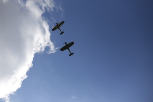 Spitfire flypast celebrating 30 years of the Festival in 2015